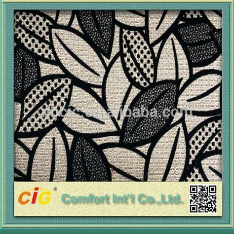 high end upholstery fabric companies details of high end flocking sofa upholstery fabric leaf