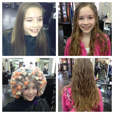 perms for fine hair before and after before and after beach wave perm cosmetology my work