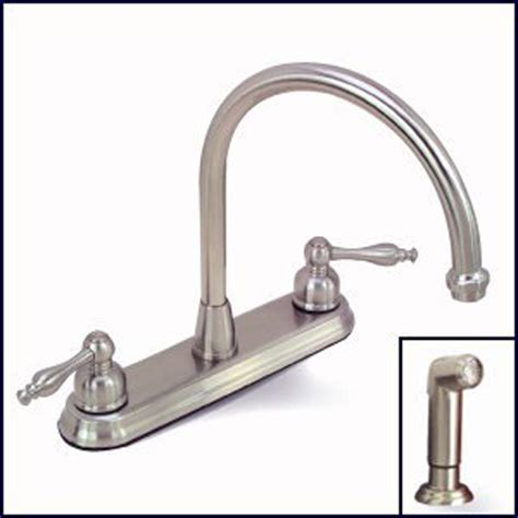 premier kitchen faucets premier wellington 120163 brushed nickel kitchen faucet with sprayer