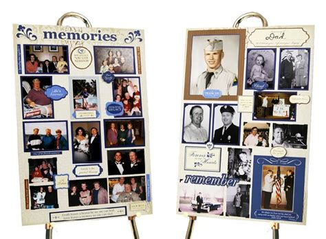 picture board ideas a new idea to personalize a memorial service funeral and