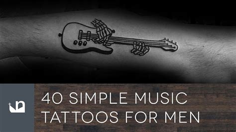 music tattoos for guys 40 simple tattoos for