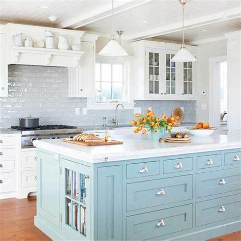 cuisine blanche et bleu maison design sphena com