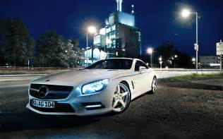 Mercedes Cars Wallpapers 1920x1200 White Mercedes Sl Desktop Pc And Mac Wallpaper
