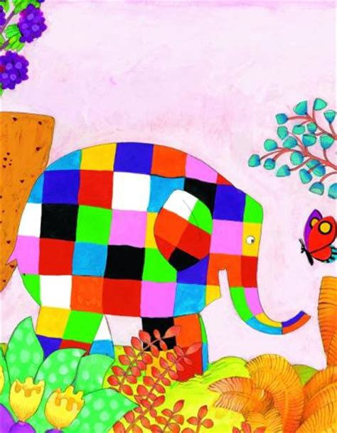 elmer and butterfly elmer and the butterfly print by david mckee worldgallery co uk