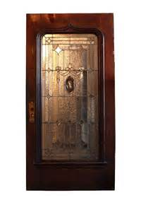 antique 42 exterior door with beveled and