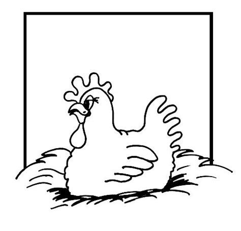 chicken nest coloring page hen on nest clipart 26