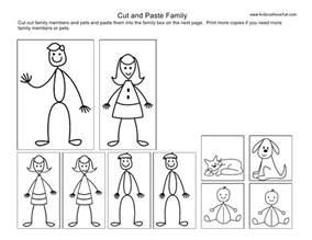 cut and paste kids family worksheets worksheets family
