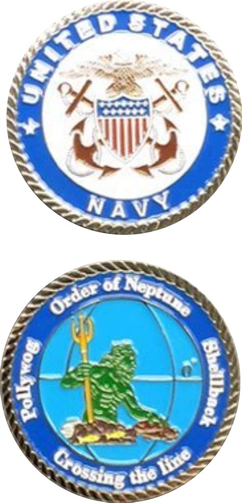 the line challenge us navy crossing the line challenge coin