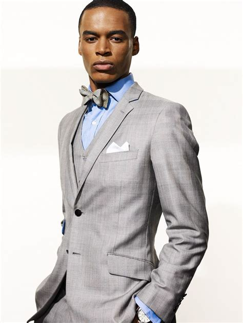 mens lifestyles news entertainment style women grey suit matching bow tie men in suits pinterest