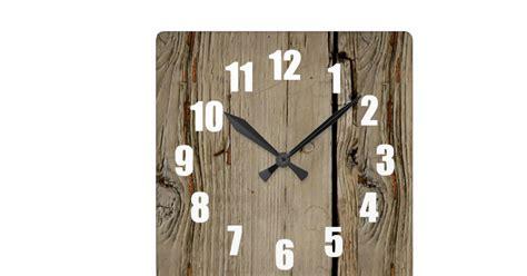 Decorative Wall Clock Faux Wood Square Decorative Wall Clock Zazzle