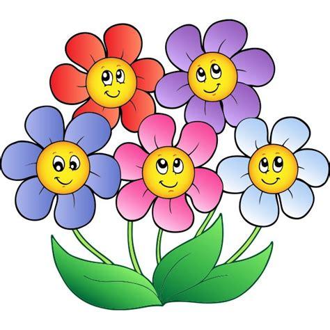 imagenes de flores animadas infantiles flores sonrientes vinilos infantiles