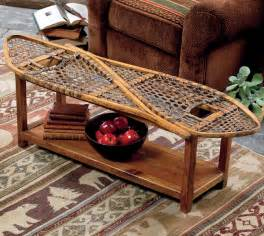 Black Forest Home Decor Rustic Coffee Tables Vintage Snowshoe Coffee Table Black