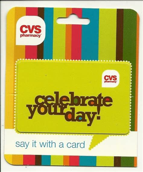 Cvs Gift Card List - cvs celebrate your day gift card no value collectible ebay