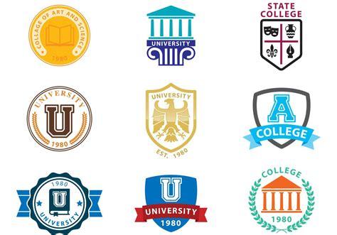 college seal template logo vectors free vector stock