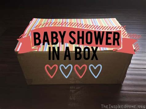 Baby Shower In A Box by Diy Baby Shower In A Box The Inspired Home