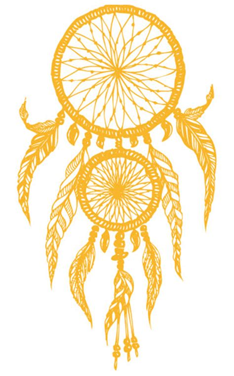 golden dream catcher large tattoo tattooforaweek