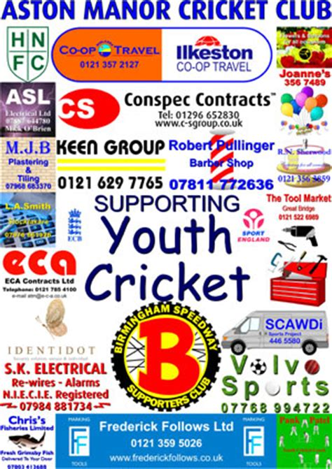 Sponsorship Letter Cricket Club Sponsorship Aston Manor Cricket Club