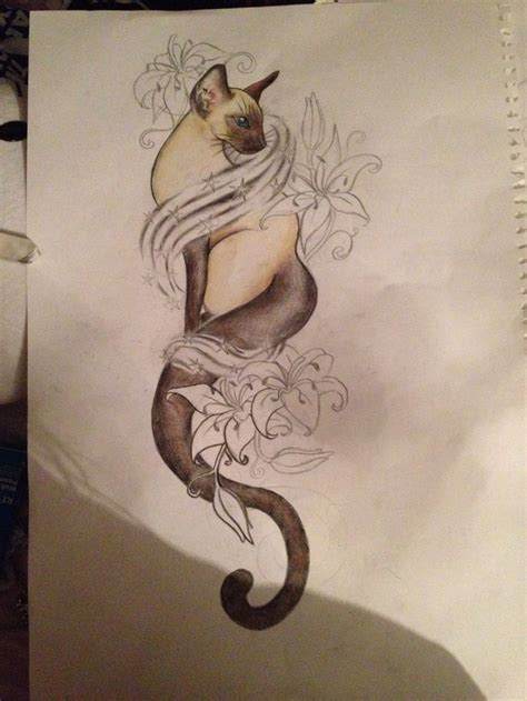 siamese cat tattoo 1000 ideas about siamese cat tattoos on