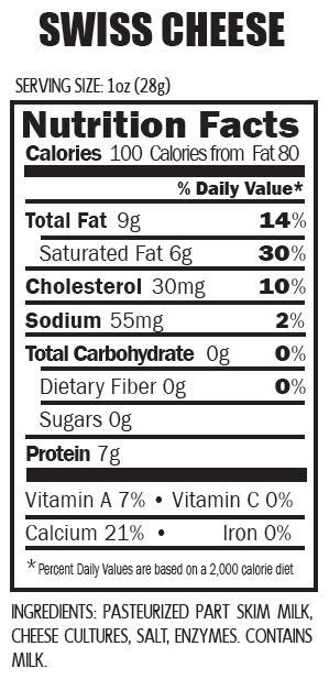 Swiss Cheese Nutritional Value - Nutrition Ftempo Arby S Nutritional Information
