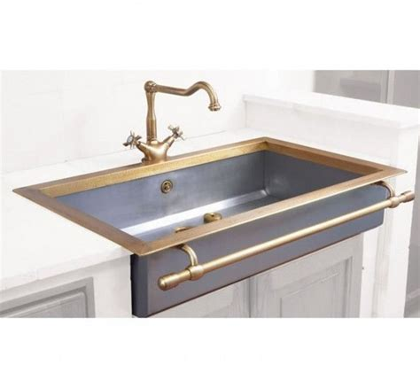 Brass Kitchen Sink And Another One Www Fromtherightbank Kitchen Trends Design Farm House Sink
