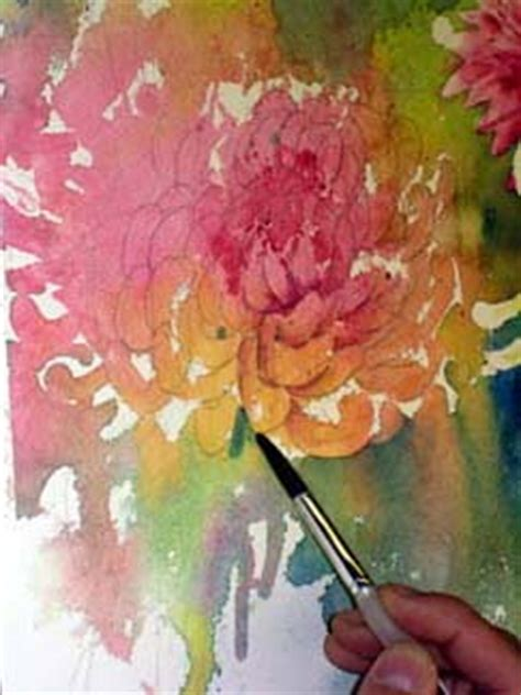 free painting lesson watercolor chrysanthemum flower painting lesson