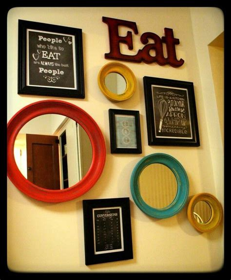 Kitchen Wall Decor Yellow Aqua And Red Kitchen Diy Diy Kitchen Wall Decor