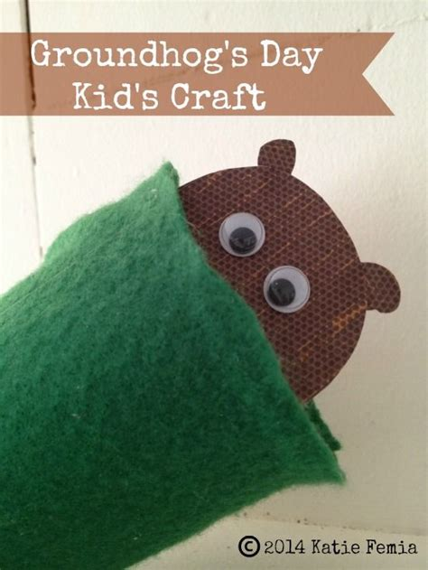 groundhog crafts for groundhog day crafts for and for on