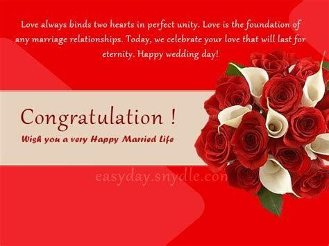 Wedding Ceremony Greeting by Top Wedding Wishes And Messages Easyday