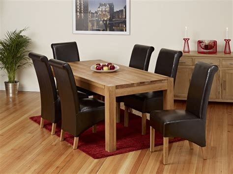 Oak Dining Room Table And 6 Chairs by Malaysian Wood Dining Table Sets Oak Dining Room Furniture