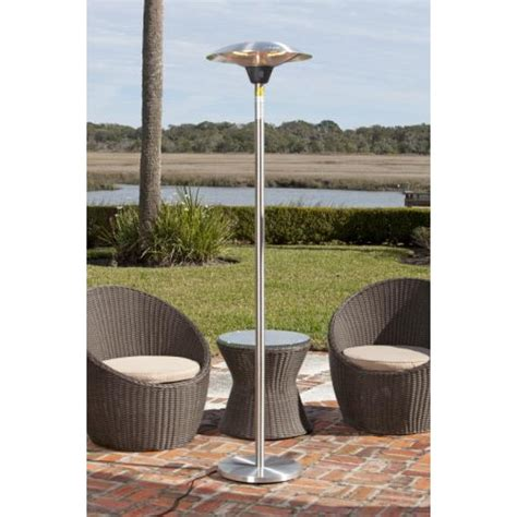stainless patio heater frisco stainless steel halogen patio heater
