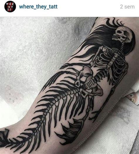 mermaid skeleton tattoo mermaid skeleton ma shitz