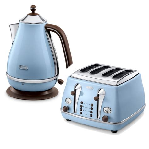 Delonghi Icona Toaster And Kettle Set De Longhi Icona Vintage 4 Slice Toaster And Kettle Bundle