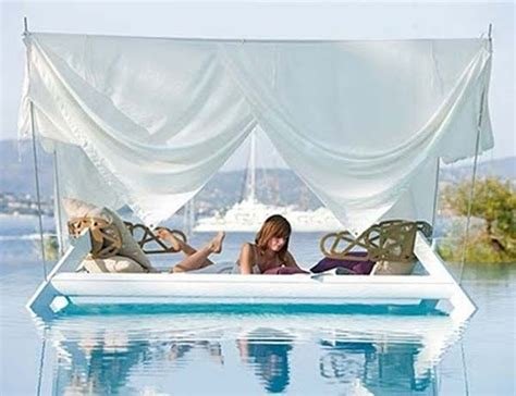 outdoor floating bed floating bed outdoor structures pinterest