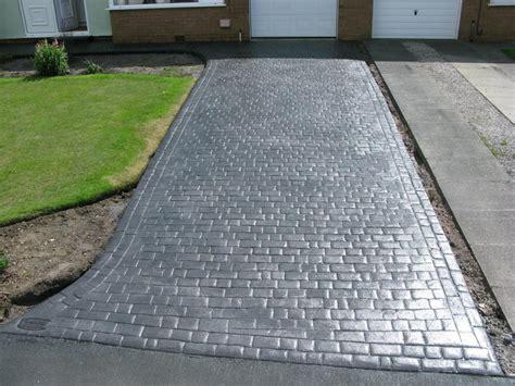 pattern concrete northern cobblestone driveways warrington concrete