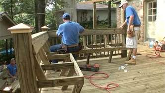 Deck Benches With Backs How To Add Built In Seating To A Deck Today S Homeowner