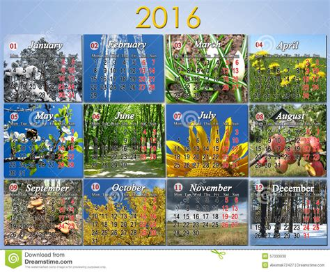 calendars using photos calendar for 2016 in with photo for every month