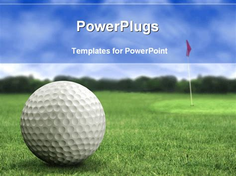 free golf templates golf in a course with striking colours powerpoint