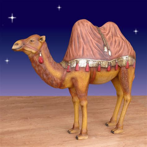 christmas camels large camel with rug figure christmasnightinc
