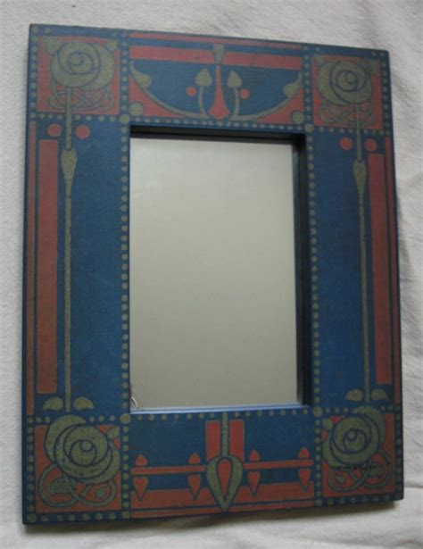 arts crafts movement style mirror frames