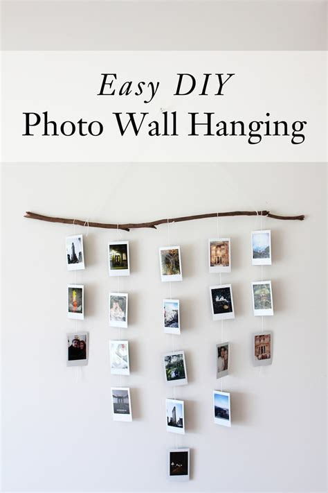 photo wall hanging easy diy photo wall hanging dossier