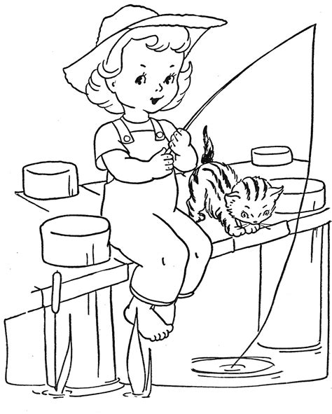 fishing coloring pages free image of a fishing coloring pages
