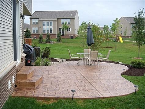 shape sted concrete patio concrete patio ideas