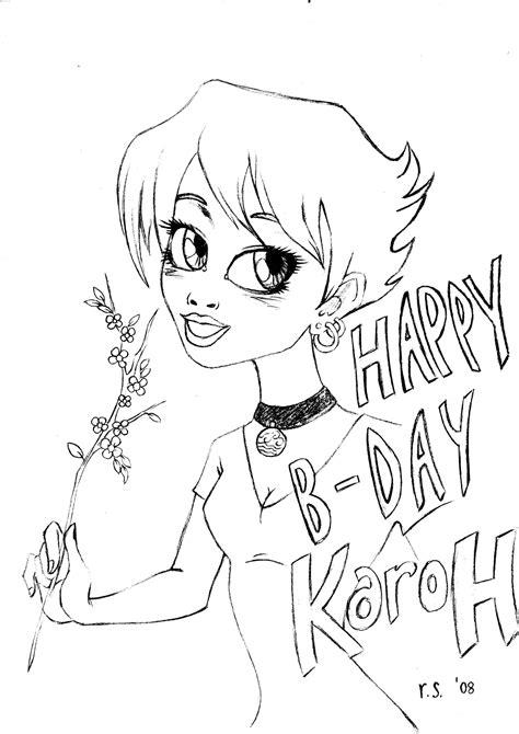 happy birthday karoh doodles  drawings photo