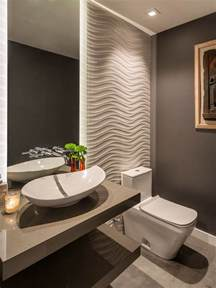 Example of a trendy powder room design in santa barbara with open