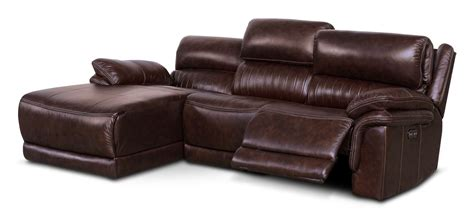 reclining sofa with left chaise monterey 3 power reclining sectional with left