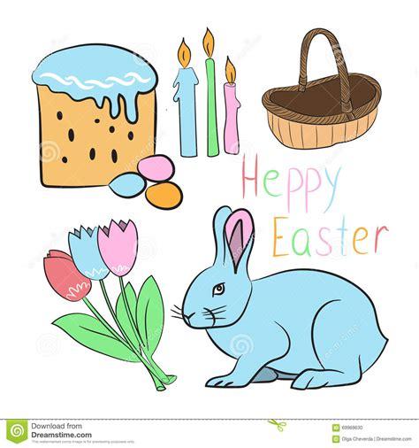 Happy Bunny Set Medium set happy easter stock vector image 69969630