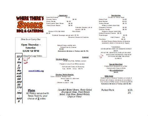 free take out menu templates 20 take out menu templates free sle exle format