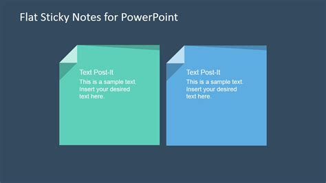 powerpoint layout notes flat sticky note shapes for powerpoint slidemodel