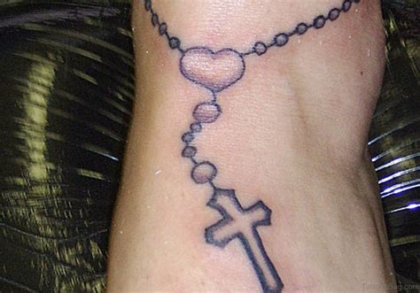 custom cross tattoos 30 cool rosary tattoos on
