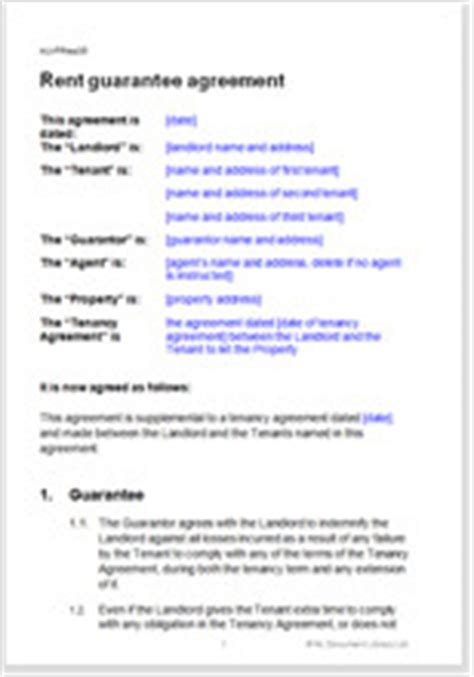rent guarantee agreement residential tenancy